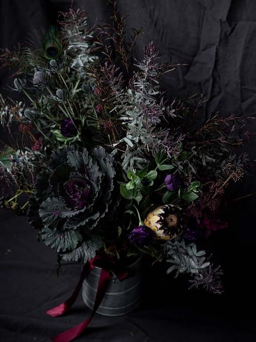 timeless dark bouquet