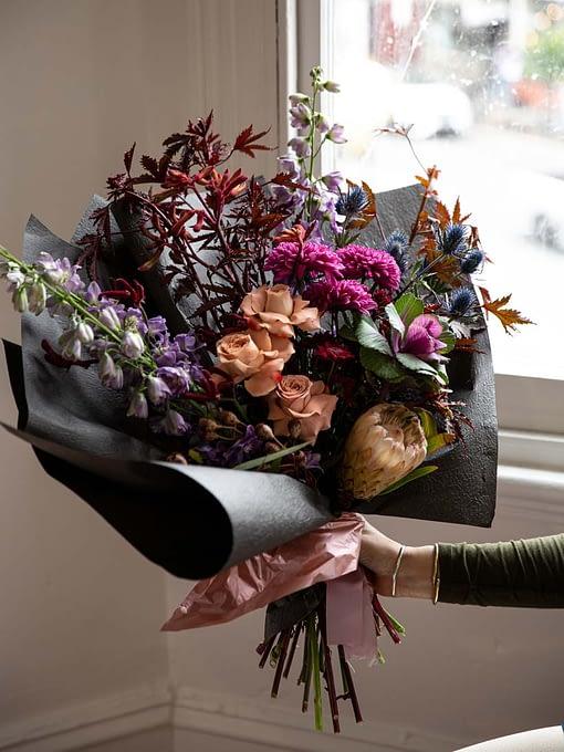 moody tone bouquet
